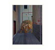 Brown Hare, 2013, Oil on Linen, 61x46cm. Art Print