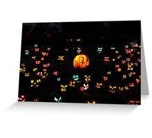 Jack-O-Lanterns 5 Greeting Card
