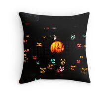Jack-O-Lanterns 5 Throw Pillow