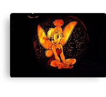 Tinkerbell Jack-O-Lantern Canvas Print