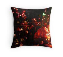 Jack-O-Lanterns 7 Throw Pillow