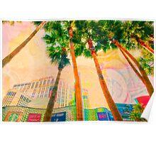 Las Vegas Palm Trees Poster