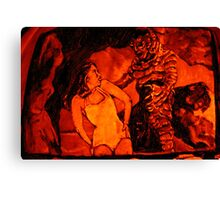 Creature From The Black Lagoon Jack-O-Lantern Canvas Print