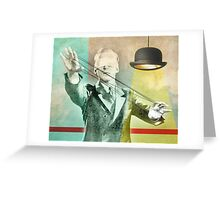 blindfold bowler Greeting Card