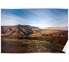 Crown Range Mountains, South Island Poster
