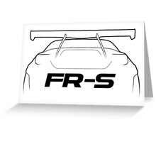 "FRS ""Bunny"" Silhouette - rear Greeting Card"