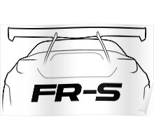 """FRS """"Bunny"""" Silhouette - rear Poster"""