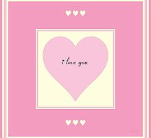 I Love You Pink Heart by kololo
