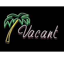 Vacant Neon Sign Photographic Print