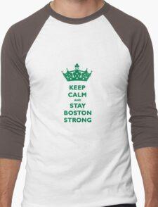 Keep Calm and Stay Boston Strong T-Shirt Men's Baseball ¾ T-Shirt