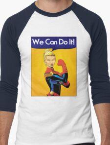 Carol the Riveter Men's Baseball ¾ T-Shirt