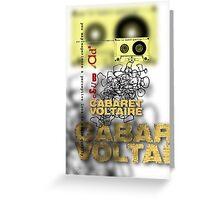 club dada - cabaret voltaire [tape spaghetti] Greeting Card