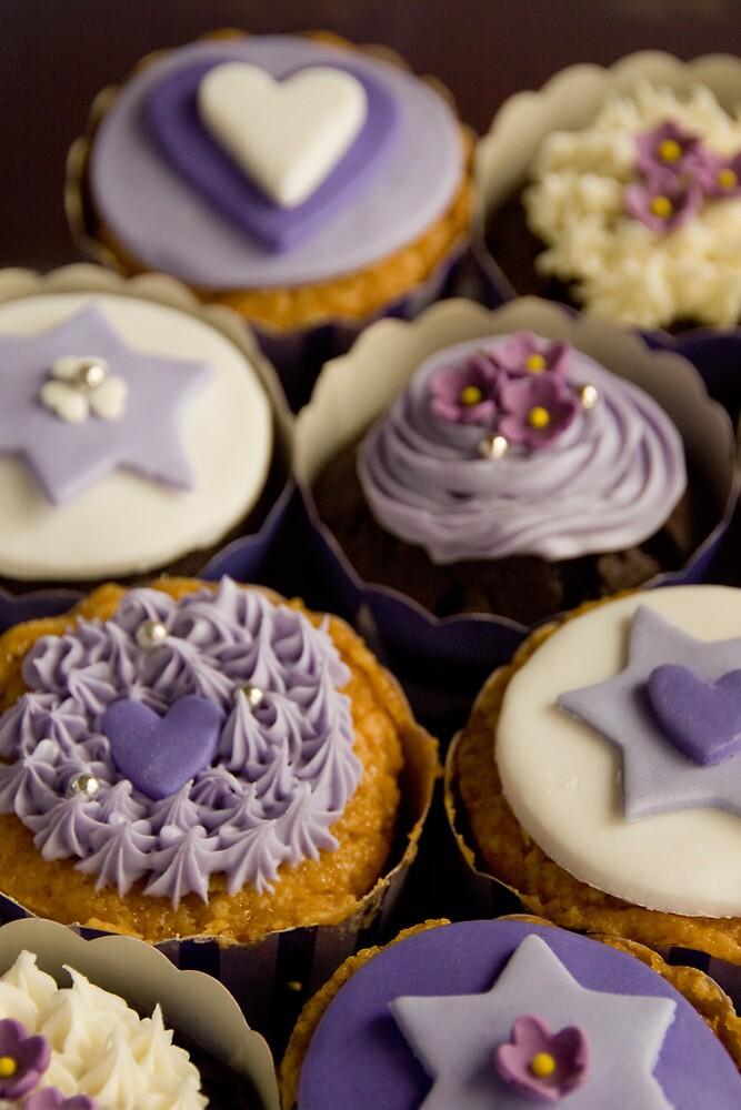 Purple Cupcake Birthday Card by Framed-Photos