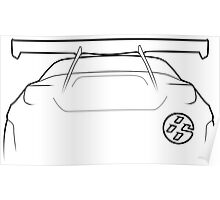 """86 / GT86 """"Bunny"""" Silhouette - rear Poster"""