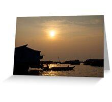 Tonle Sap River Cambodia Greeting Card