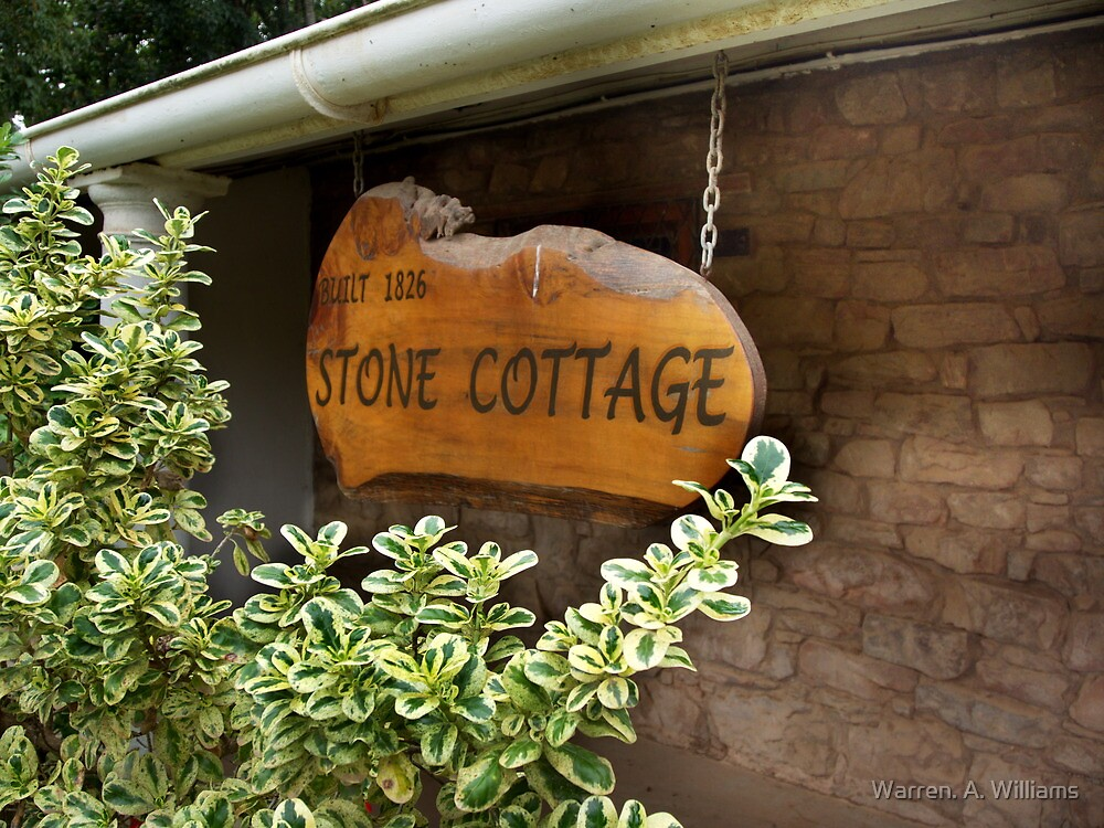1826 Stone Cottage by Warren. A. Williams