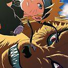 Naruto and Kurama by squidkid