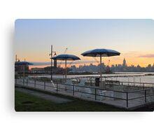 Sunrise Taken From The Jersey City Beachfront Canvas Print