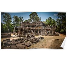 Cambodian library at Ta Phrom Poster