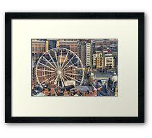 Leeds Observation Wheel (OWL) And BBC Leeds Framed Print