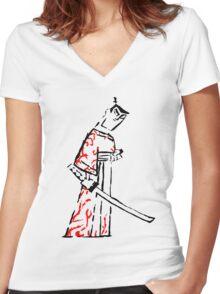 Ink Samurai Women's Fitted V-Neck T-Shirt