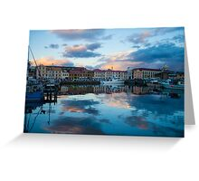 Constitution Dock at sunset Greeting Card