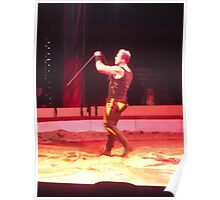 Circus/Russian Strongman VI -(150413)- Digital photo/FujiFilm AX350 Poster
