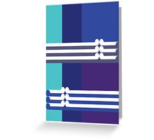 THE BLUE - abstract geometry - plate 3 Greeting Card
