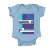 THE BLUE - abstract geometry - plate 3 One Piece - Short Sleeve