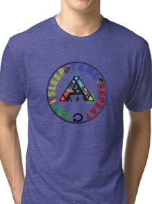 EAT SLEEP TAME REPEAT Tri-blend T-Shirt