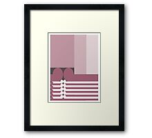 FAMILY TIES   - abstract geometry - plate 10 Framed Print