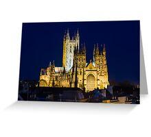 Canterbury cathedral at Night Greeting Card