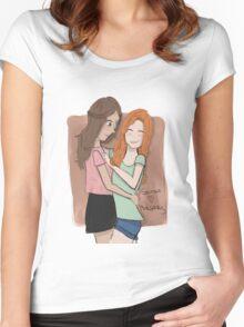 Sansaery Women's Fitted Scoop T-Shirt