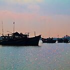 Vietnam. Hoi An River. Morning. Fishing Boats. by vadim19