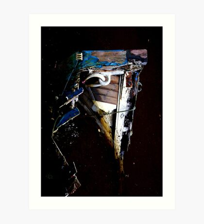 boat in canal Art Print
