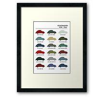Vintage Colours VW Beetle  Framed Print