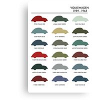Vintage Colours VW Beetle  Canvas Print