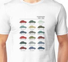 Vintage Colours VW Beetle  Unisex T-Shirt