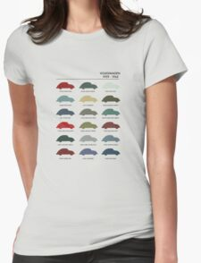 Vintage Colours VW Beetle  Womens Fitted T-Shirt