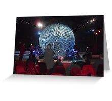 Circus/Motor Cycle Act VI  -(150413)- Digital photo/FujiFilm AX350 Greeting Card