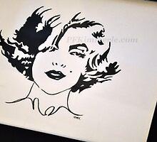 Marilyn Monroe Posh (watercolor) by Patricia Feaster-Kimmerle