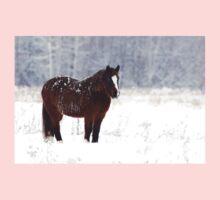 Brown on White - Horse Kids Tee