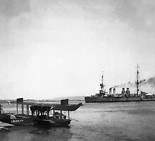 USS Mississippi 1928 by Henri Bersoux