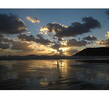 Sunset Over Norman Beach Photographic Print