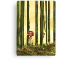 girl in a forest Canvas Print