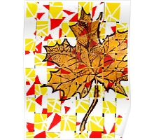 Creative Yellow Leaf Poster