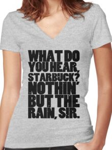 Nothin' but the rain Women's Fitted V-Neck T-Shirt