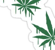 Weed Graffiti Style Sticker