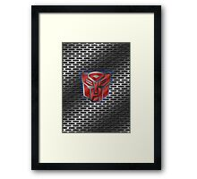 Autobot Symbol - Brushed Metal 1.0 Framed Print