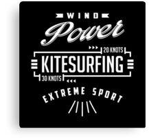 Wind Power Kitesurfing B&W Canvas Print